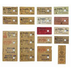 Set of (16) 1950s-70s Attraction Ticket Stubs.