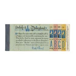 Starlite Disneyland Ticket Book.