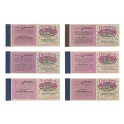 Collection of (6) Disneyland Courtesy Ticket Books.