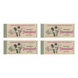 Set of (4) Complete Disneyland Ticket Books.