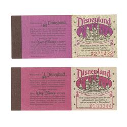 Pair of Adventures in Disneyland Courtesy Ticket Books.