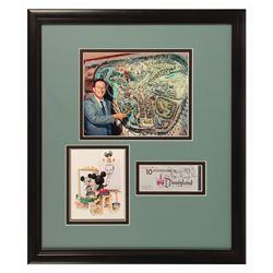 Walt Disney Signed Child Ticket Book.