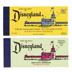 "Pair of 50th Anniversary Park History ""Ticket"" Books."