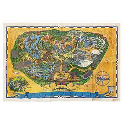 1968 Disneyland Souvenir Map.