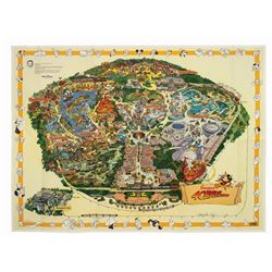 Signed 1995 Corrected Disneyland Souvenir Map.