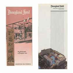 Pair of Disneyland Hotel Brochures.