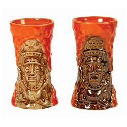 Pair of Trader Sam's Enchanted Tiki Bar Krakatoa Mugs.