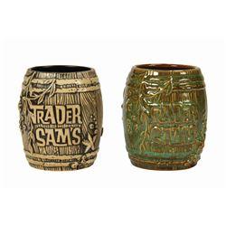 Pair of Trader Sam's Shipwreck Mugs.