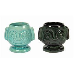 Pair of Trader Sam's Hippopatamaitai Mugs.