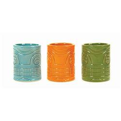 Set of (3) Trader Sam's Grog Grotto Rum Flight Mugs.