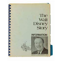 The Walt Disney Story Press Information Booklet.