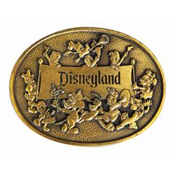 Disneyland Brass Belt Buckle.