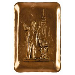 """Partners"" Walt Disney and Mickey Mouse Bronze Tray."