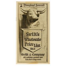Swift's Market House Souvenir Price List.