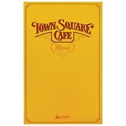 Town Square Café Breakfast Menu.