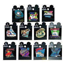 Collection of (11) Disneyland Attraction Series Pins.