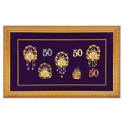 Set of (8) 50th Anniversary Princess Brooch Pins.