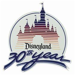 Disneyland 30th Anniversary Lamppost Sign.