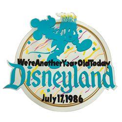 Disneyland 31st Birthday Lamppost Sign.