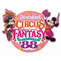 Disneyland Circus Fantasy Lamppost Sign.