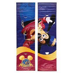 Pair of Goofy Disneyland 50th Anniversary Banners.