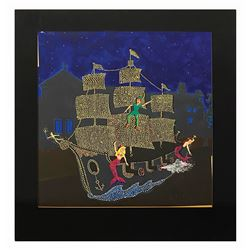 Electrical Parade Peter Pan Float Concept Painting.