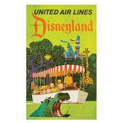 Disneyland United Airlines Travel Poster.