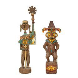 Enchanted Tiki Room Uti and Pele Figures.
