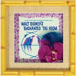 Enchanted Tiki Room 50th Anniversary Framed Props.