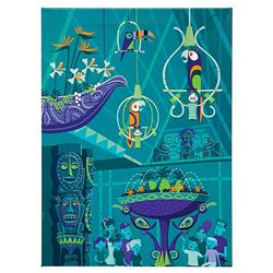 The Birds Sing Shag Signed Enchanted Tiki Room Giclee.