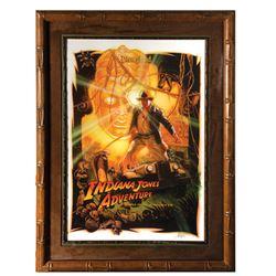 Drew Struzan Signed Indiana Jones Attraction Poster.