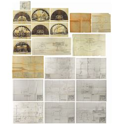Set of (21) Golden Horseshoe Stage Designs.