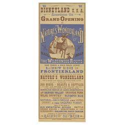 Nature's Wonderland Grand Opening Flyer.