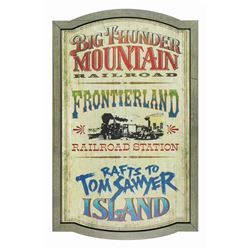 Replica Frontierland Attraction Sign.