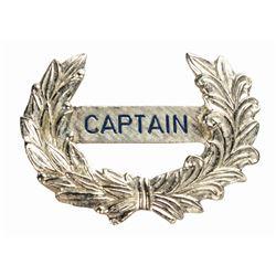 Mark Twain Captain Cast Member Hat Badge.