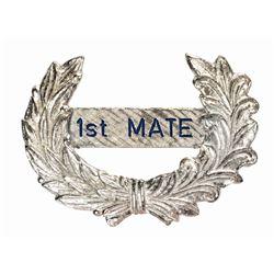 Mark Twain 1st Mate Cast Member Hat Badge.
