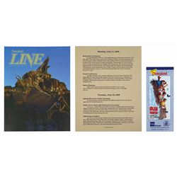 Set of (3) Splash Mountain Grand Opening Items.