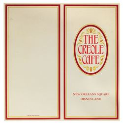 The Creole Café Menu.