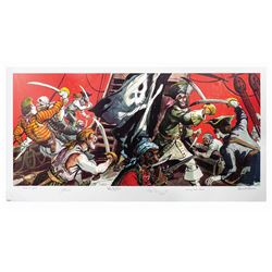 Pirates of the Caribbean Multi-Signed Print.