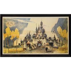 Herb Ryman Sleeping Beauty Castle Lithograph.