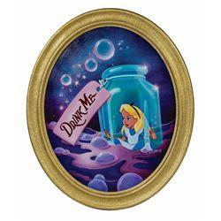 """Original """"Drink Me"""" Alice in Wonderland Painting."""