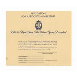 Early Club 33 Membership Application.