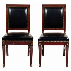 Pair of Club 33 Chairs.