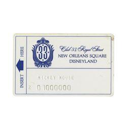 Club 33 Membership Card Test Pressing.