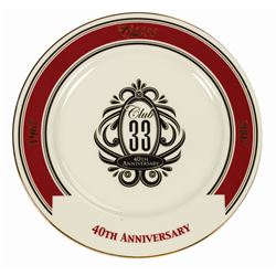 Club 33 Limited Edition Plate.
