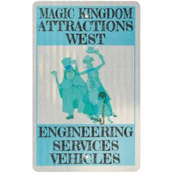 Engineering Services Hitchhiking Ghost Vehicle Sign.