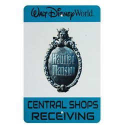 Haunted Mansion Central Shops Receiving Sign.