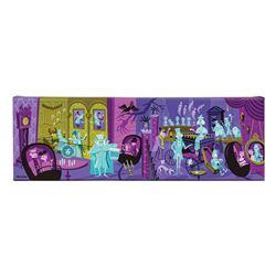 31 Ghosts Haunted Mansion Shag Canvas Wrap.
