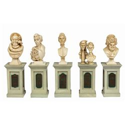 Haunted Mansion Dread Family Busts Set.