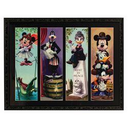 Set of (4) Mickey & Friends Stretching Portrait Prints.